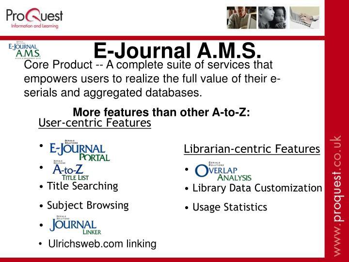 E-Journal A.M.S.