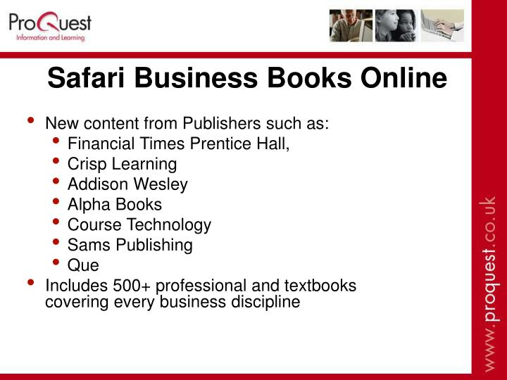 Safari Business Books Online
