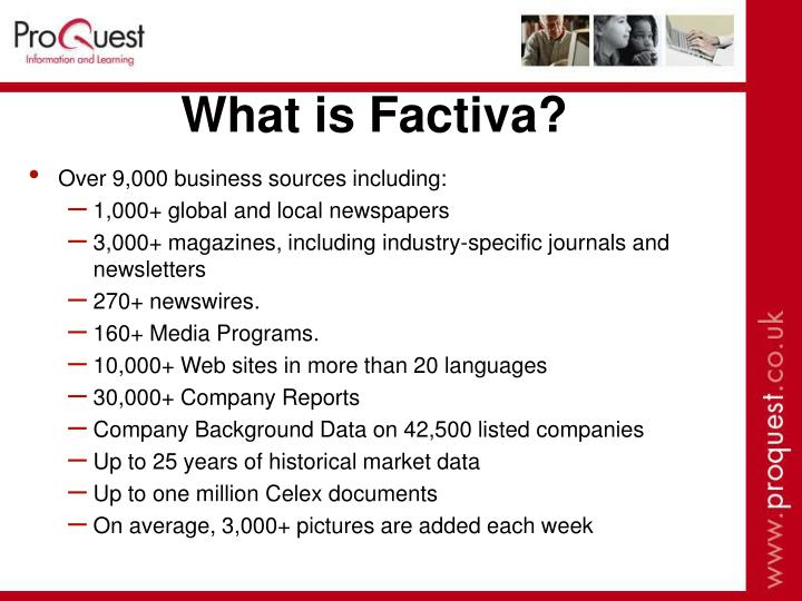 What is Factiva?