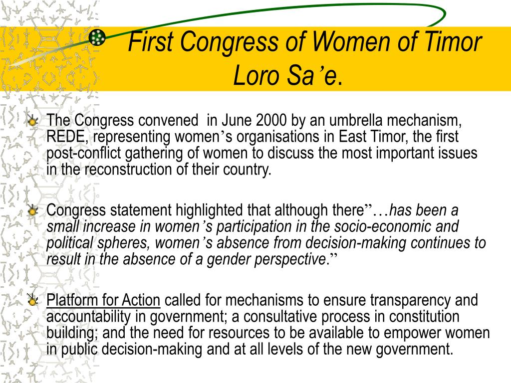First Congress of Women of Timor Loro Sa