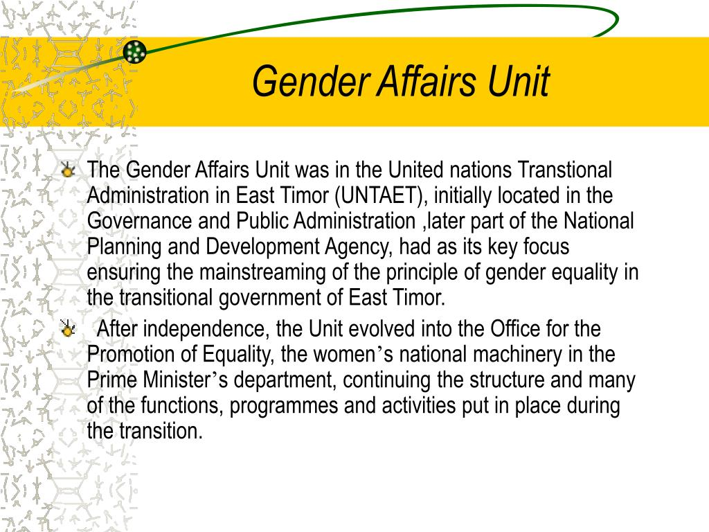 Gender Affairs Unit