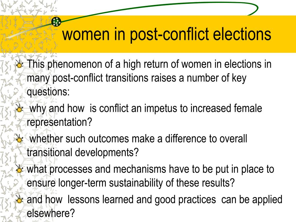 women in post-conflict elections