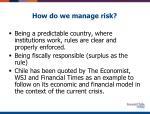 how do we manage risk