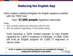 reducing the english gap