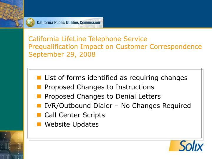 California LifeLine Telephone Service
