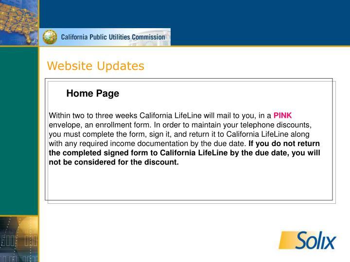 Website Updates