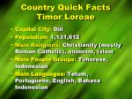 country quick facts timor loroae