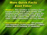 more quick facts east timor