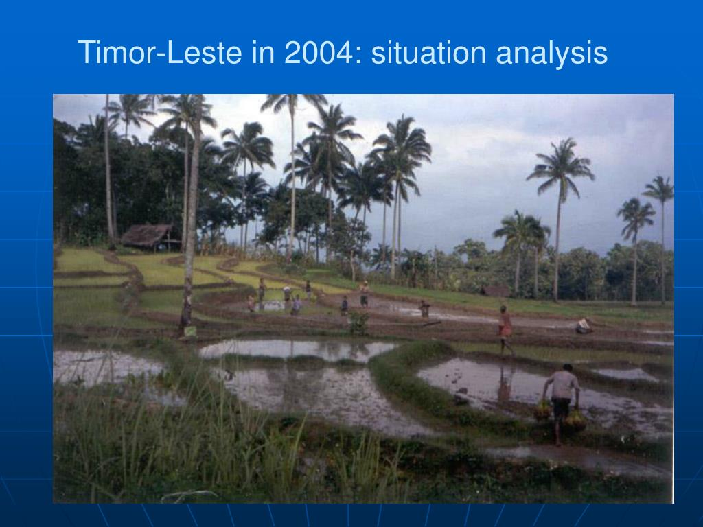 Timor-Leste in 2004: situation analysis
