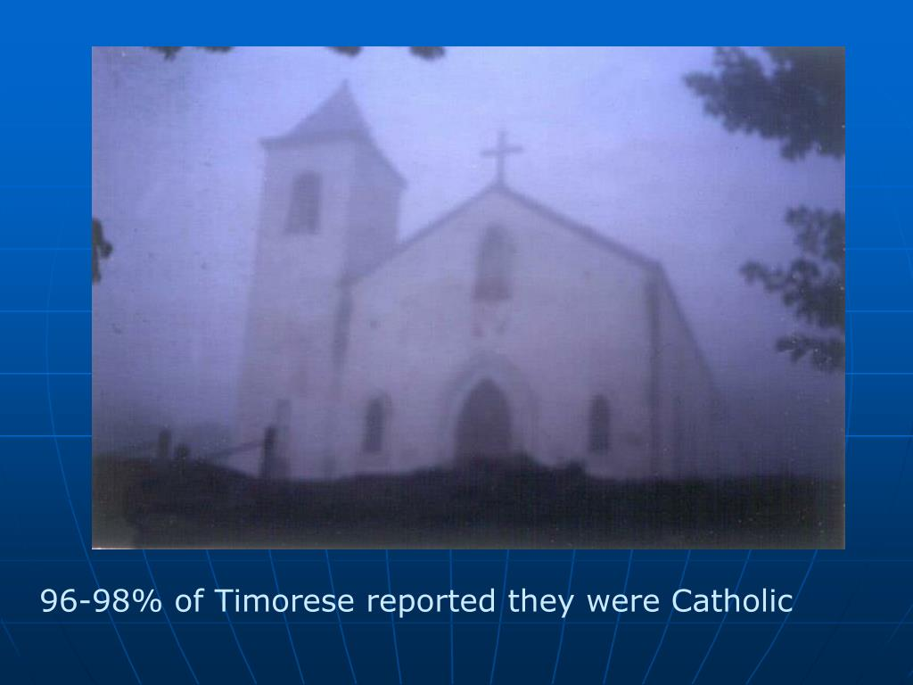 96-98% of Timorese reported they were Catholic