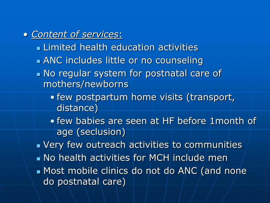 Content of services