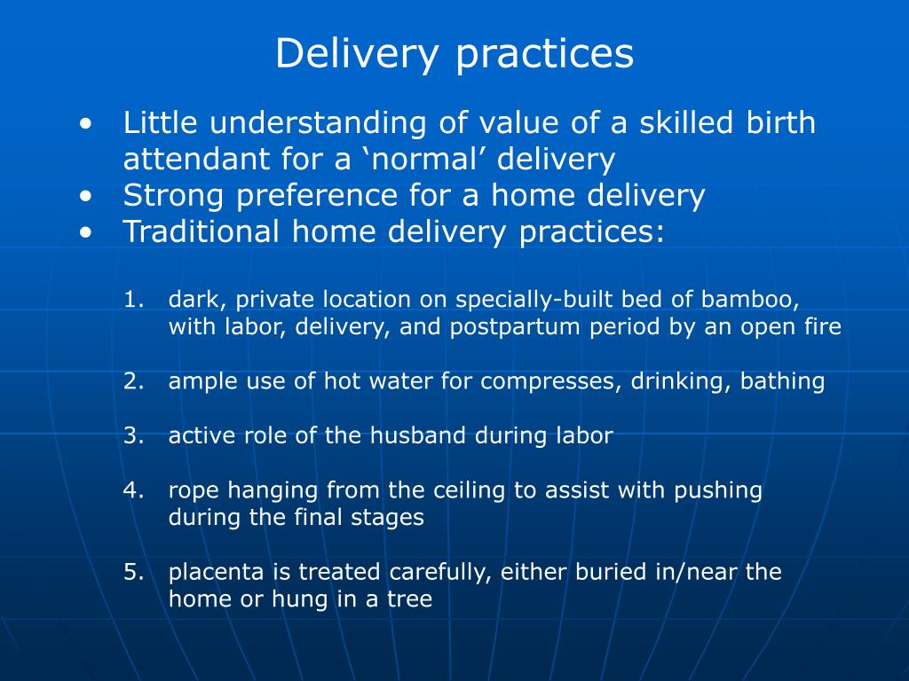 Delivery practices