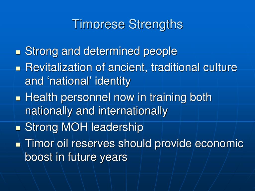 Timorese Strengths