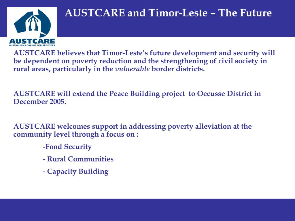 AUSTCARE and Timor-Leste – The Future