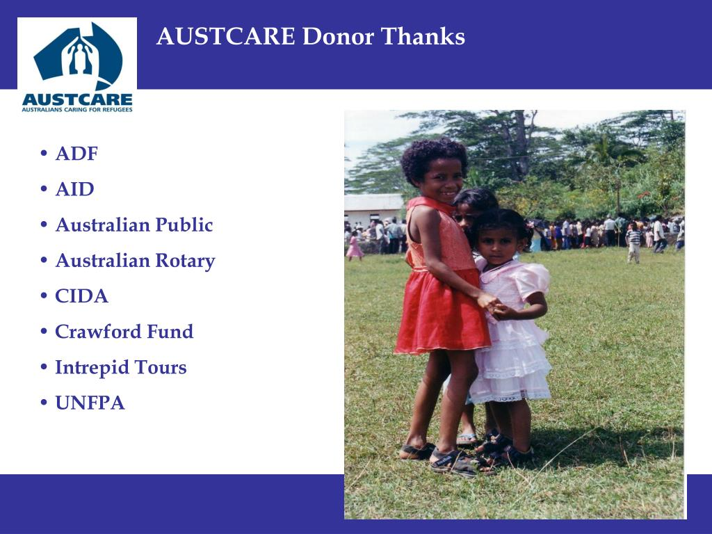 AUSTCARE Donor Thanks