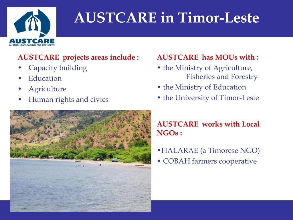 AUSTCARE in Timor-Leste