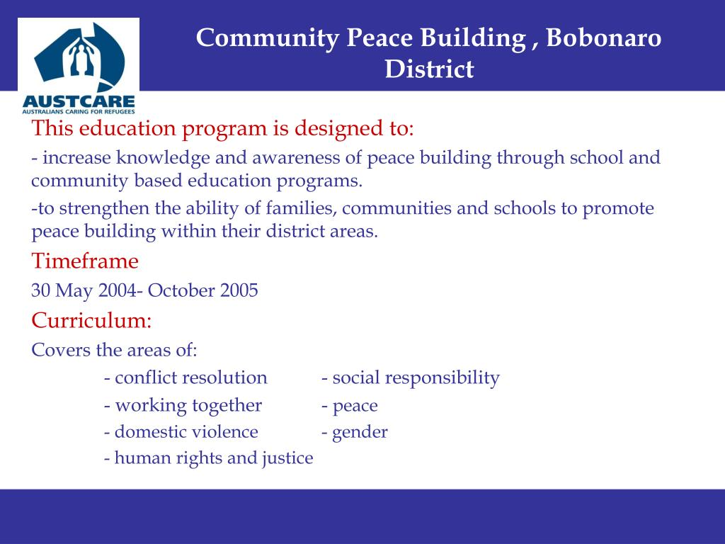 Community Peace Building , Bobonaro District