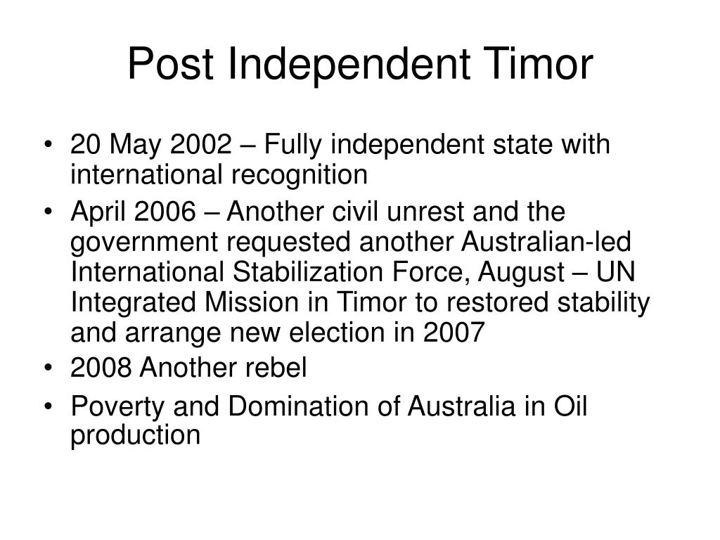 Post Independent Timor