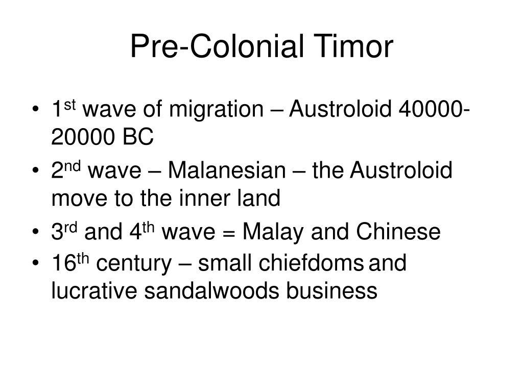 Pre-Colonial Timor