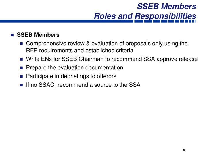 SSEB Members