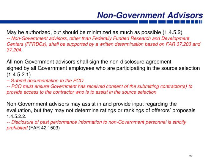 Non-Government Advisors
