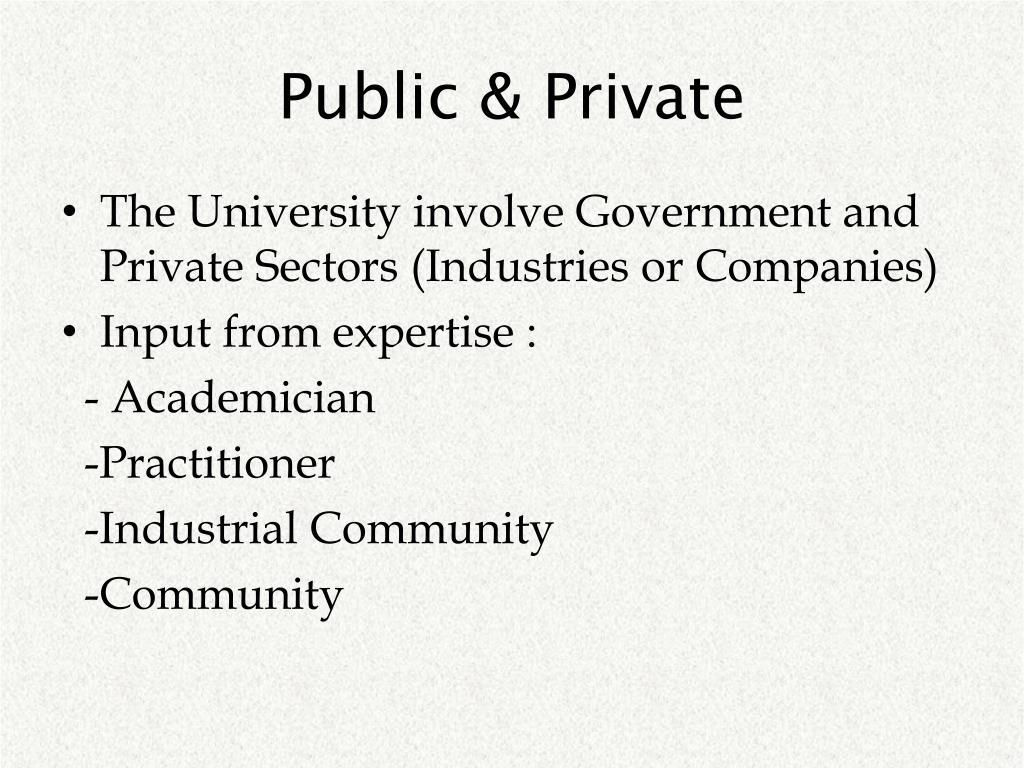 Public & Private
