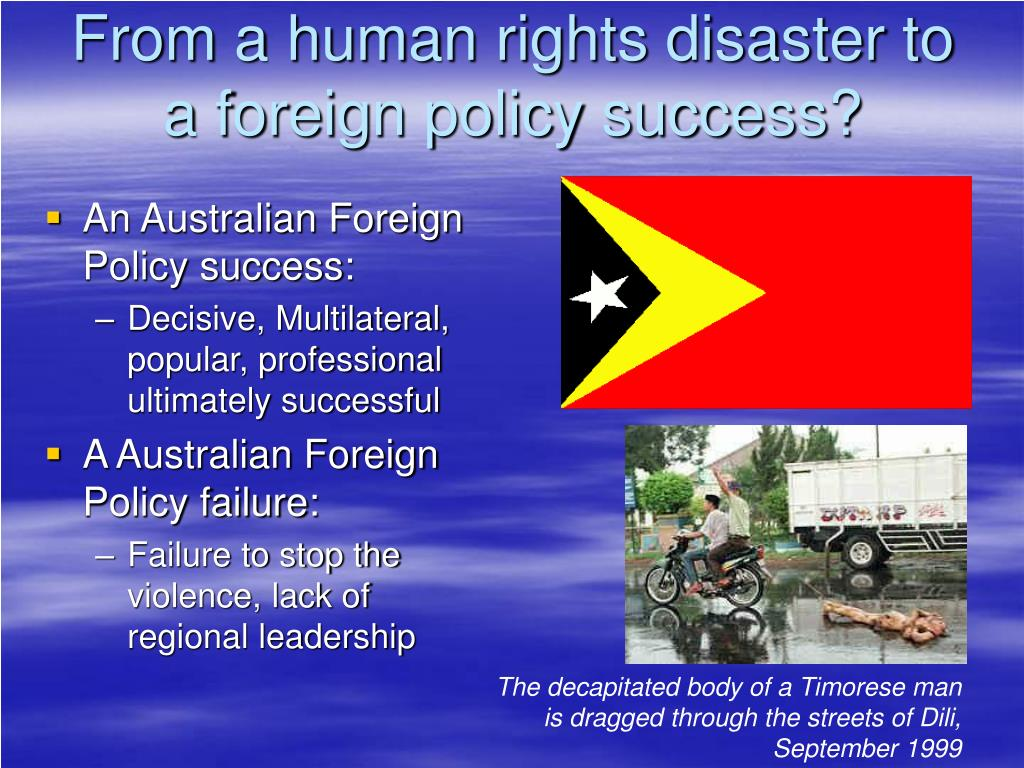 From a human rights disaster to a foreign policy success?