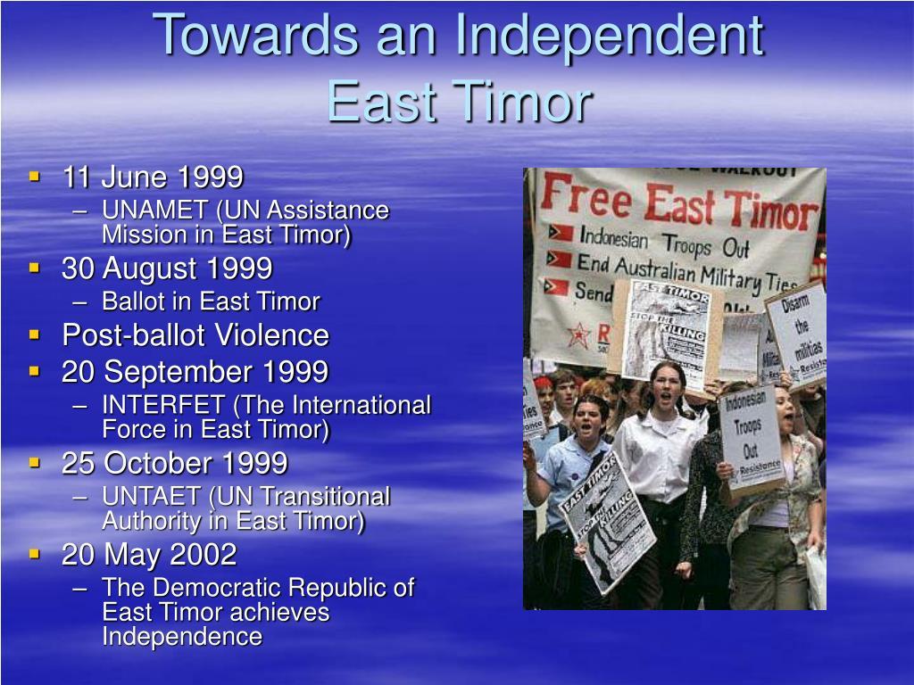 Towards an Independent