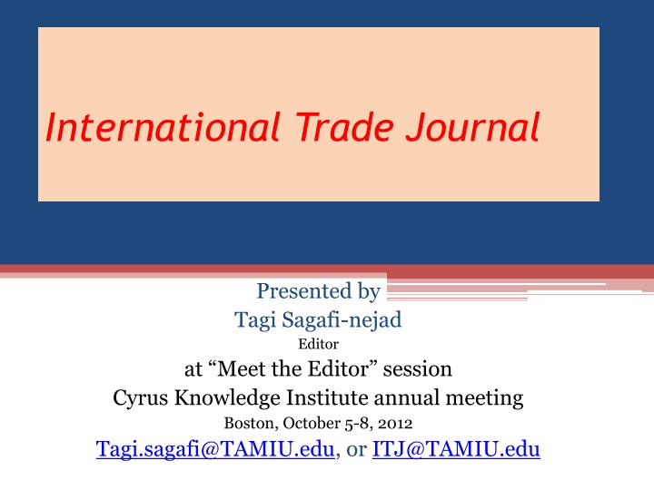 International Trade Journal