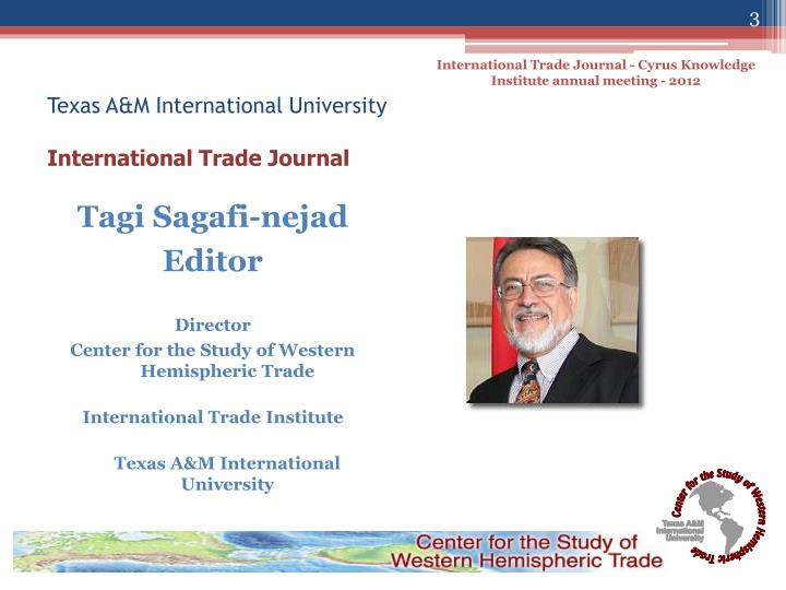 Texas a m international university international trade journal