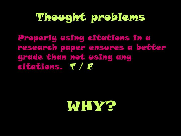 Thought problems