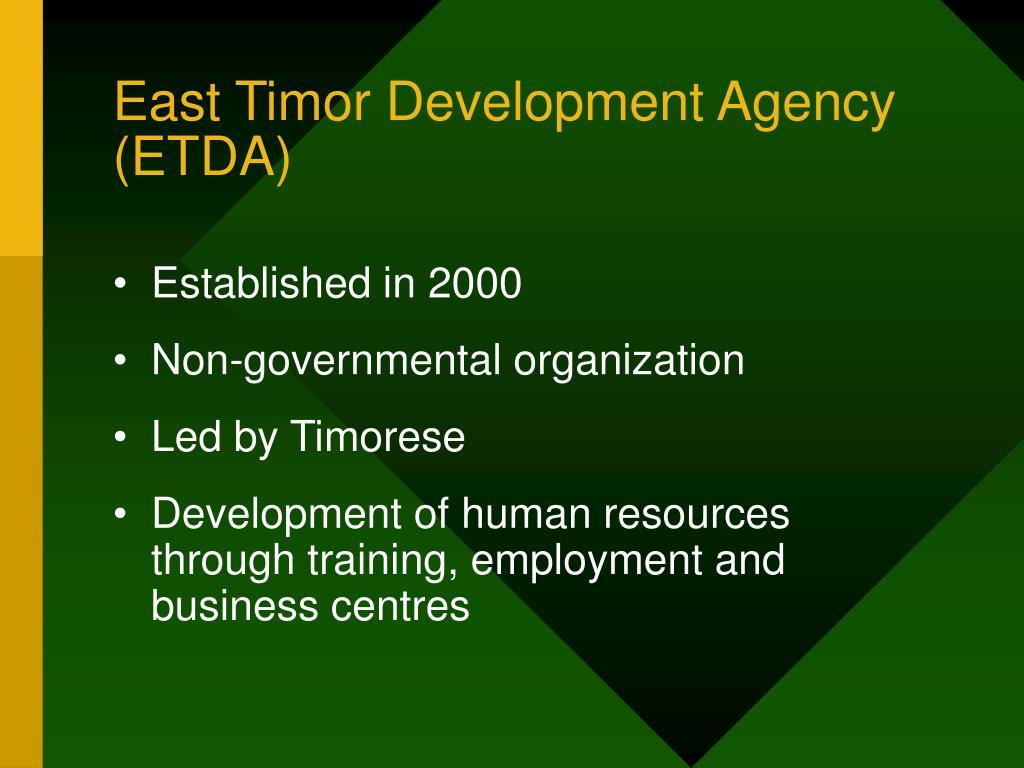 East Timor Development Agency (ETDA)