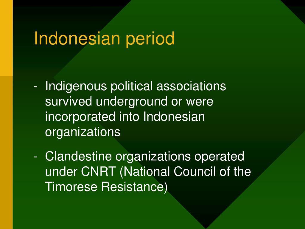 Indonesian period