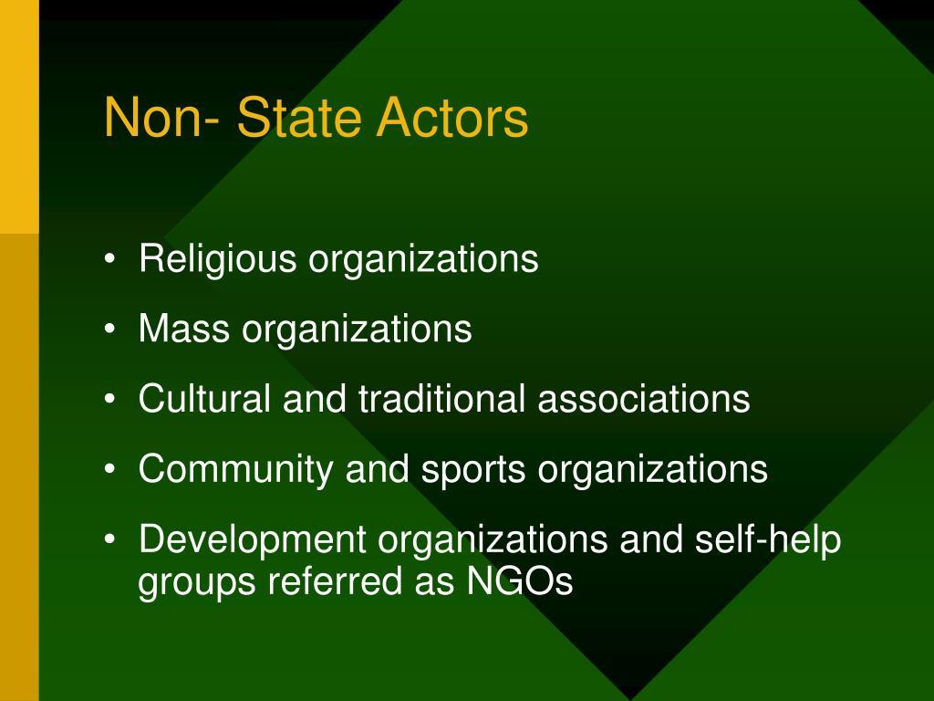 Non- State Actors