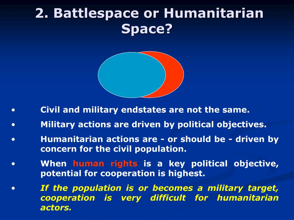 2. Battlespace or Humanitarian Space?