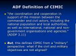 adf definition of cimic