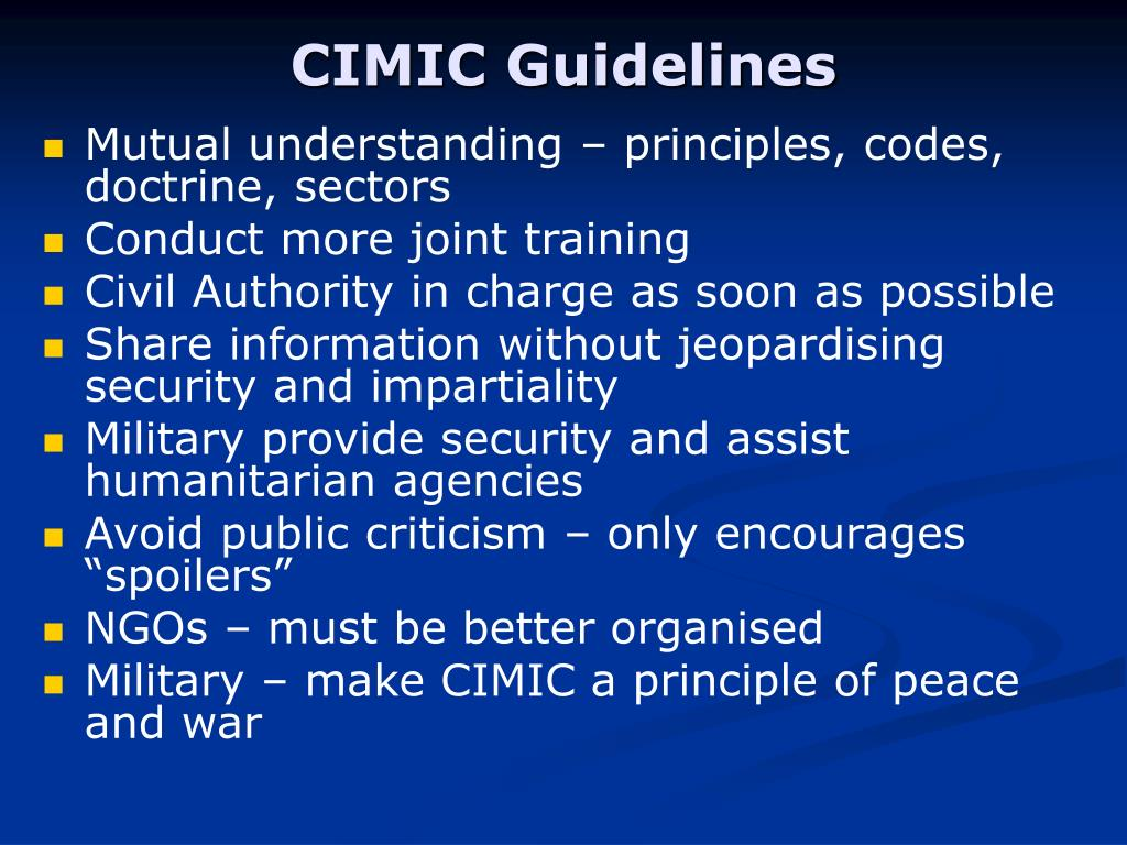 CIMIC Guidelines