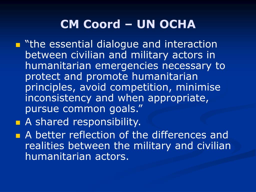 CM Coord – UN OCHA