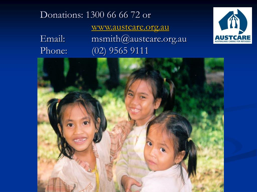 Donations: 1300 66 66 72 or