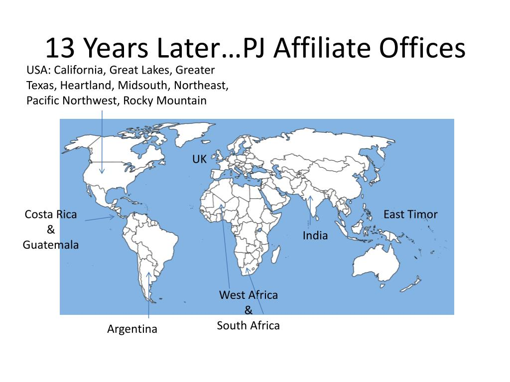 13 Years Later…PJ Affiliate Offices