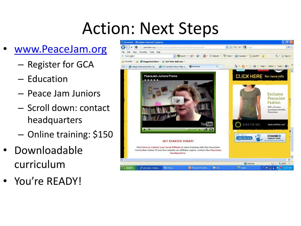 Action: Next Steps