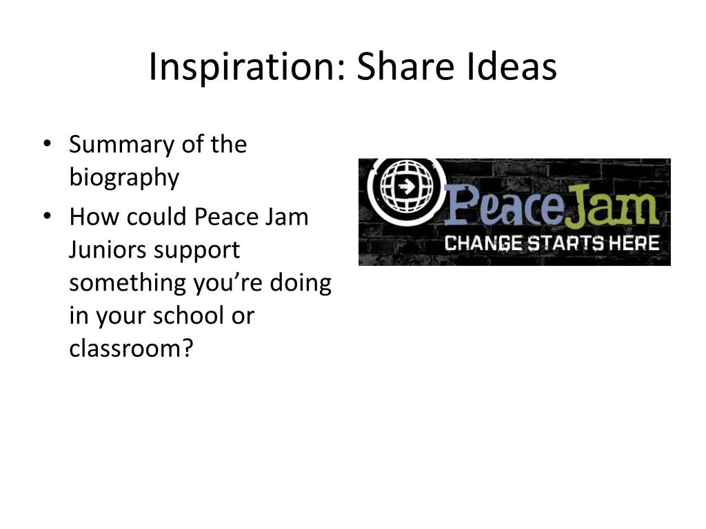 Inspiration: Share Ideas