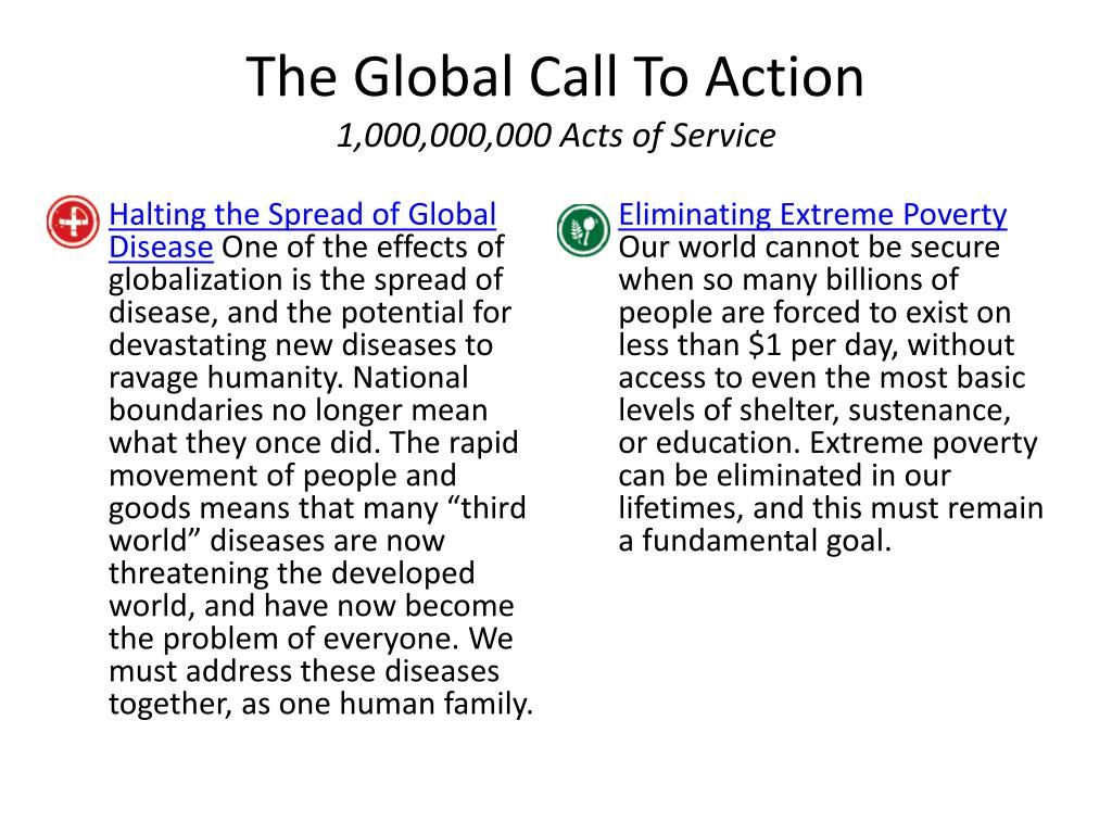 The Global Call To Action