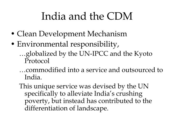 India and the CDM