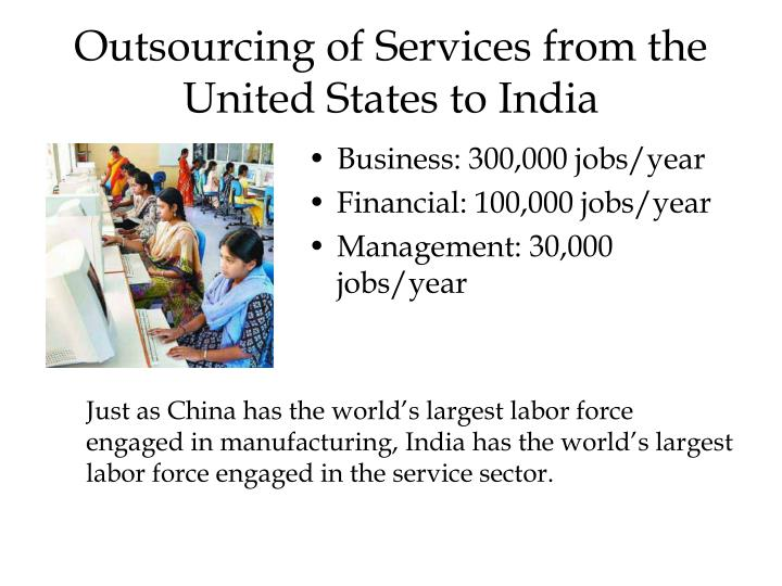Outsourcing of Services from the United States to India