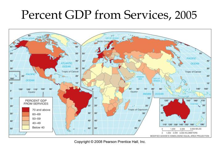 Percent GDP from Services,