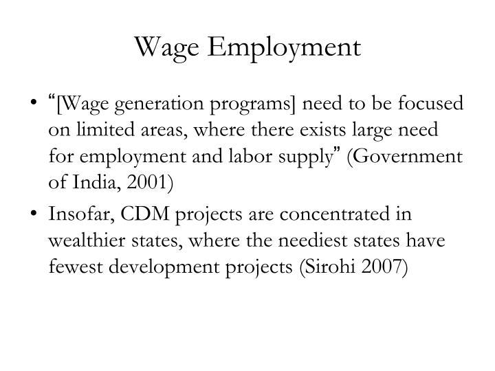 Wage Employment