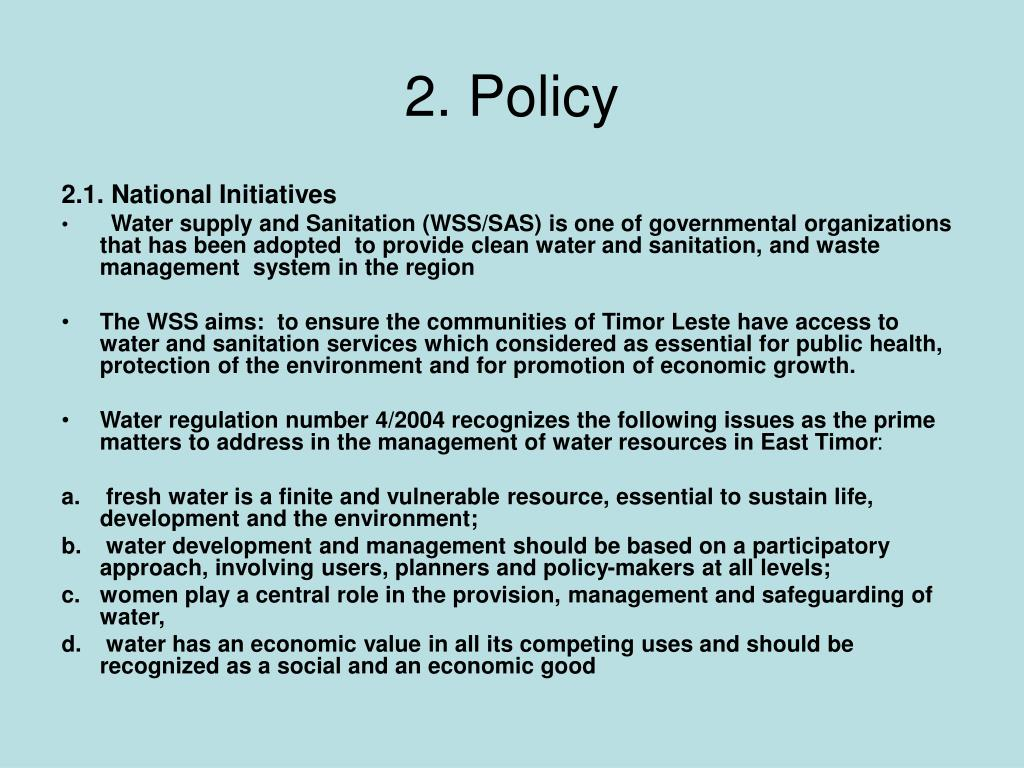 2. Policy