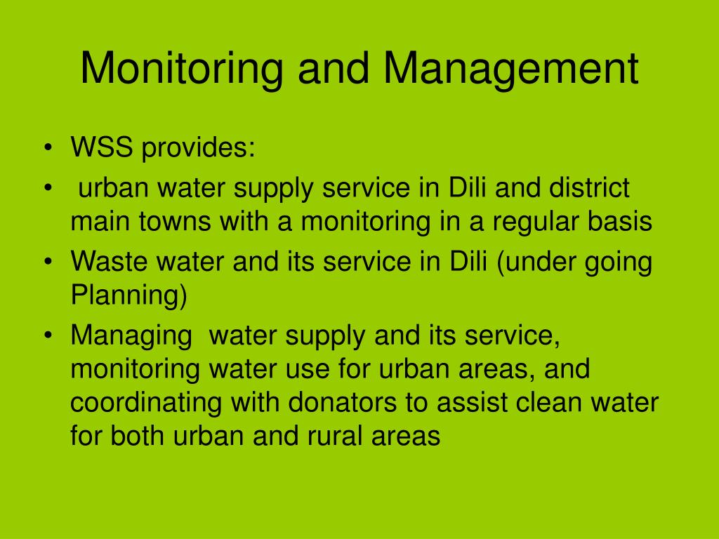 Monitoring and Management