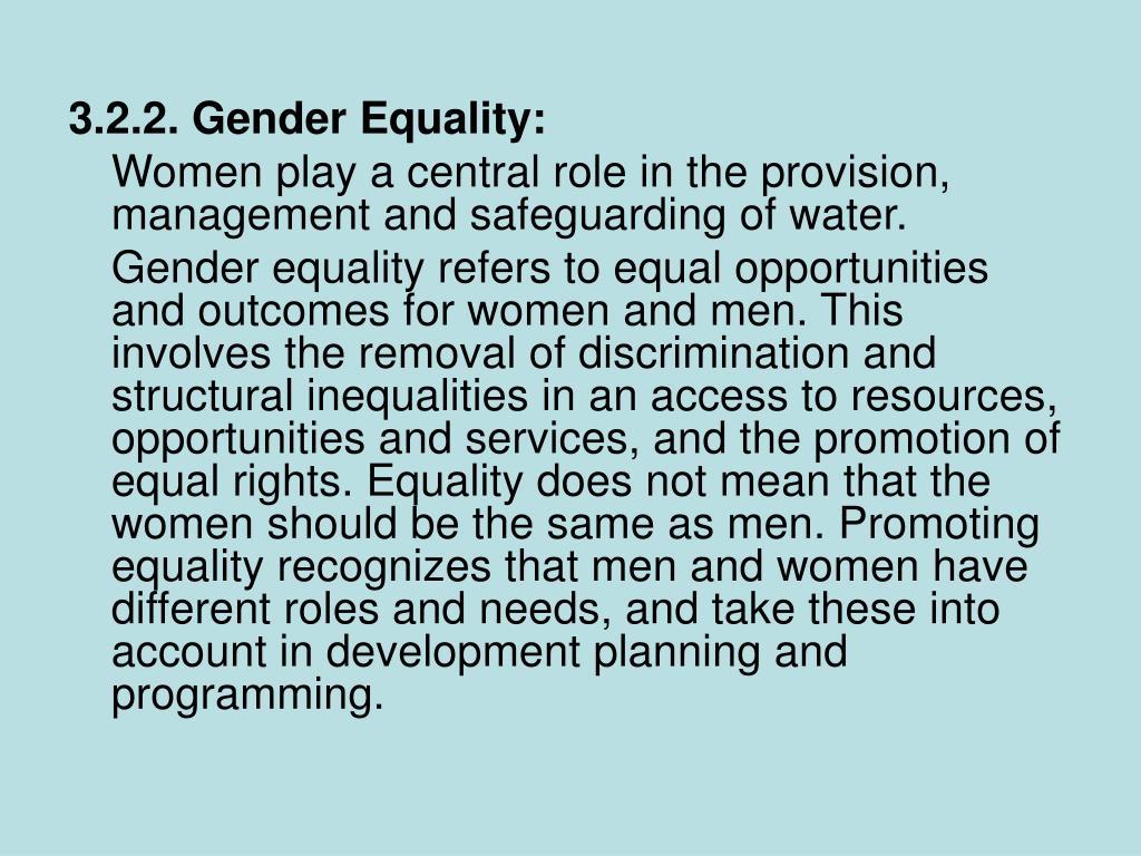 3.2.2. Gender Equality: